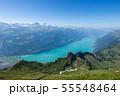 【スイス】 ブリエンツ湖の全景とブリエンツ・ロートホルン鉄道 55548464