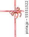 リボンの十字掛け イラスト(水彩画) 55551522