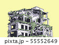 Collapsed building earthquake explosion fire 55552649