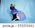 コスプレをしている黒猫の写真(お祭り) 55553441