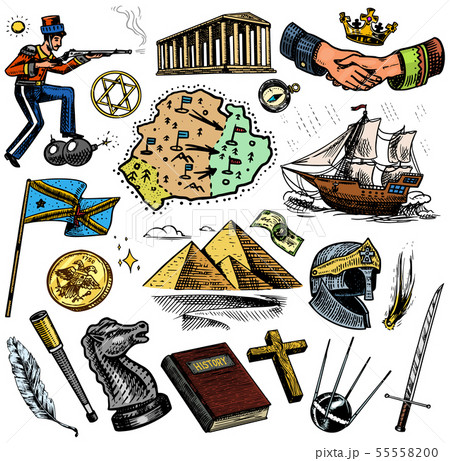 The history of people, science and education, religion and travel, discoveries and old ancient 55558200