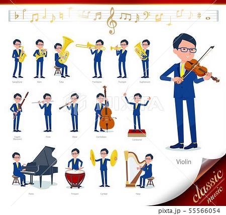 flat type glasses Honest man_classic music 55566054