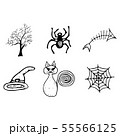 Halloween doodle set isolated on white background. 55566125