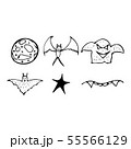 Halloween doodle set isolated on white background. 55566129
