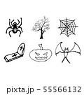 Halloween doodle set isolated on white background. 55566132
