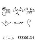 Halloween doodle set isolated on white background. 55566134