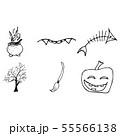 Halloween doodle set isolated on white background. 55566138