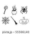 Halloween doodle set isolated on white background. 55566140