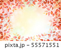 赤い木の葉のフレーム 55571551