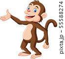 Cartoon happy monkey presenting  55588274