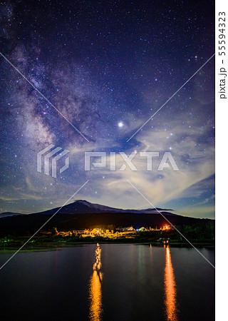 鳥海山から見る天の川 55594323