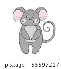 Cute vector mouse isolated on white background. 55597217