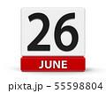Cubes calendar 26th June 55598804