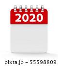 Icon calendar spiral 2020 year 55598809