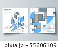 The minimal vector layout of two square format covers design templates for brochure, flyer, magazine 55606109