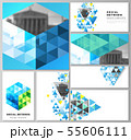 The minimalistic abstract vector illustration of the editable layouts of modern social network 55606111