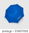 Vector 3d Realistic RenderBlue Blank Umbrella Icon Closeup Isolated on White Background. Design 55607092