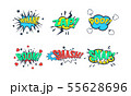 Comic Speech Bubble with Text Set, Comic Sound Effects, Wham, Zap, Poof, Boom, Smash, Snap Vector 55628696