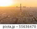 cityscape of paris in the dusk with eiffel tower 55636470