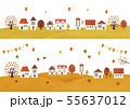 秋の家と木水彩 55637012