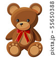 Teddy bear with bow. Bear plush toy. 55650388