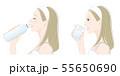 女性の横顔, 熱中症対策 55650690