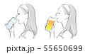 女性の横顔, 冷たい飲み物 55650699