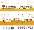 秋のマルシェ2種水彩 55651758