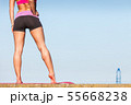 Woman drinking water after sport gym outdoor 55668238