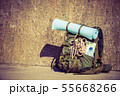 Hiking backpack camping equipment outdoor on 55668266