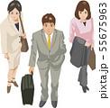 ビジネスマン 俯瞰 55675963