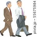 営業先へ向かうビジネスマン 55675984