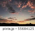 真っ赤な朝焼け permingM 写真素材 55684125