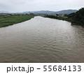 大雨で増水した河川 permingM 写真素材 55684133
