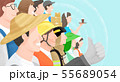 Group of people background illustration 009 55689054