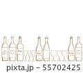 ワインのイラスト背景 55702425