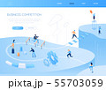 Business competition - modern isometric vector web banner 55703059