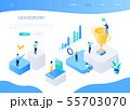 Leadership concept - colorful isometric vector web banner 55703070