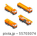 Construction Vehicles - modern vector isometric colorful elements 55703074