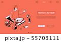 Financial advisor - line design style isometric web banner 55703111