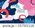 Creative thinking poster - modern vector minimalistic banner 55703116