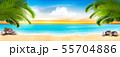 Summer vacation panorama. Tropical beach with a 55704886