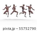 男性 解剖 筋肉 3DCG イラスト素材 55752790