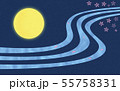 春の満月 55758331