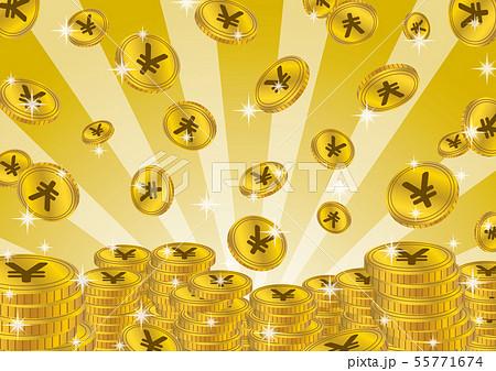 コイン放射 イラスト3 55771674