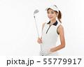 若い女性 ゴルフ 55779917