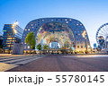 The Markthal at night in Rotterdam city 55780145