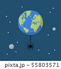Planet earth with spider 55803571