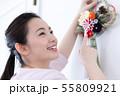 女性 ライフスタイル お正月飾り 55809921