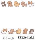 小型犬並びフレーム 55894168